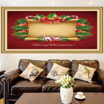 Christmas Scroll Patterned Multifunction Decorative Wall Art Painting - RED/YELLOW 1PC:24*35 INCH( NO FRAME )