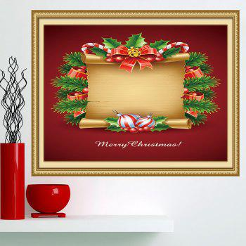 Christmas Scroll Patterned Multifunction Decorative Wall Art Painting - RED AND YELLOW 1PC:24*47 INCH( NO FRAME )
