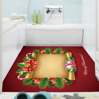 Christmas Scroll Patterned Multifunction Decorative Wall Art Painting - RED/YELLOW 1PC:24*47 INCH( NO FRAME )