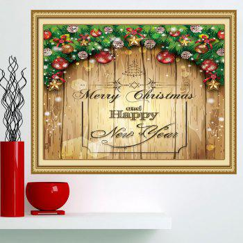 Merry Christmas Decorations Printed Multifunction Wall Art Painting - YELLOW YELLOW