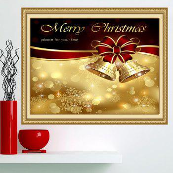 Christmas Bowknot Bells Printed Multifunction Wall Art Painting - 1PC:24*35 INCH( NO FRAME ) 1PC:24*35 INCH( NO FRAME )