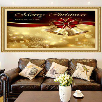 Christmas Bowknot Bells Printed Multifunction Wall Art Painting - 1PC:24*47 INCH( NO FRAME ) 1PC:24*47 INCH( NO FRAME )