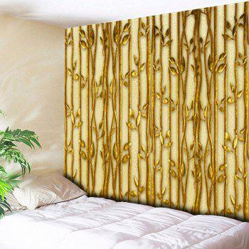 Wall Hanging Plant Pattern Bedroom Tapestry - GOLDEN W79 INCH * L59 INCH
