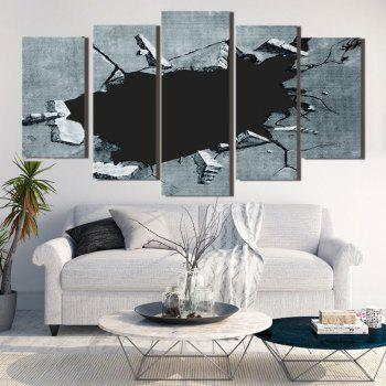 Broken Hole Print Unframed Decorative Canvas Paintings - 1PC:8*20,2PCS:8*12,2PCS:8*16 INCH( NO FRAME ) 1PC:8*20,2PCS:8*12,2PCS:8*16 INCH( NO FRAME )