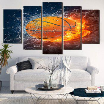 Burning Football Printed Unframed Decorative Canvas Paintings - 1PC:8*20,2PCS:8*12,2PCS:8*16 INCH( NO FRAME ) 1PC:8*20,2PCS:8*12,2PCS:8*16 INCH( NO FRAME )