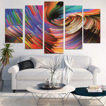 Colorful Abstract Space Print Decorative Canvas Paintings - 1PC:8*20,2PCS:8*12,2PCS:8*16 INCH( NO FRAME ) 1PC:8*20,2PCS:8*12,2PCS:8*16 INCH( NO FRAME )