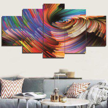 Colorful Abstract Space Print Decorative Canvas Paintings - COLORFUL 1PC:8*20,2PCS:8*12,2PCS:8*16 INCH( NO FRAME )