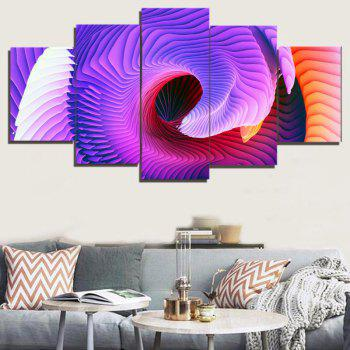 Abstract Space Print Unframed Decorative Canvas Paintings - COLORFUL 1PC:8*20,2PCS:8*12,2PCS:8*16 INCH( NO FRAME )