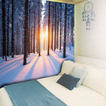 Bedroom Decor Snowscape Pattern Wall Tapestry - W59 INCH * L51 INCH W59 INCH * L51 INCH
