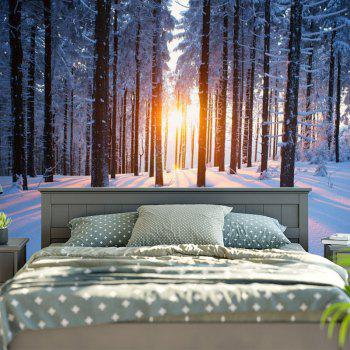 Bedroom Decor Snowscape Pattern Wall Tapestry - COLORMIX W59 INCH * L51 INCH