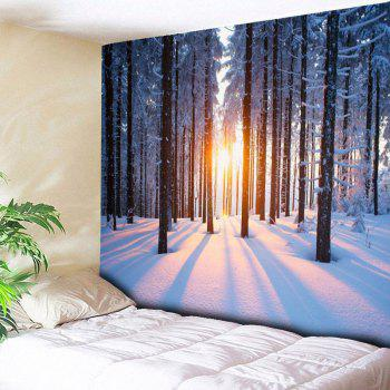 Bedroom Decor Snowscape Pattern Wall Tapestry - COLORMIX W59 INCH * L59 INCH