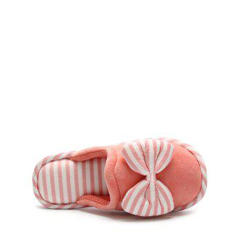 Bowknot Sweet Warm Bedroom Slippers - ORANGE YELLOW SIZE(40-41)