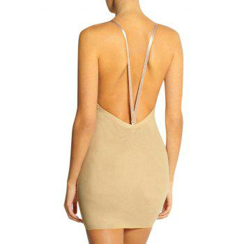 Plunge Convertible Strap Slip Corset Dress - M M