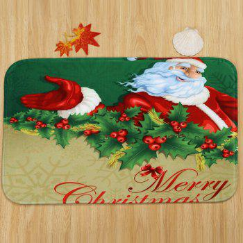 Santa Merry Christmas Pattern 3 Pcs Bathroom Toilet Mat - COLORMIX