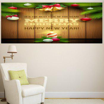 Multifunction Colored Christmas Candle Wall Sticker - COLORFUL 1PC:24*24 INCH( NO FRAME )