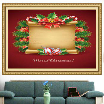 Christmas Scroll Patterned Multifunction Decorative Wall Art Painting - RED/YELLOW RED/YELLOW