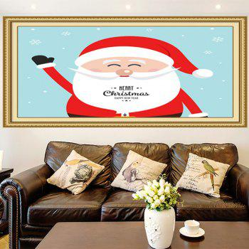Multifunction Happy Santa Claus Patterned Wall Art Painting - RED/BLUE RED/BLUE