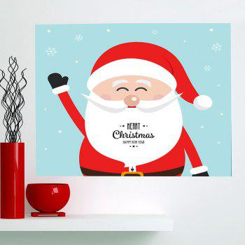 Multifunction Happy Santa Claus Patterned Wall Art Painting - RED+BLUE RED/BLUE