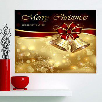 Christmas Bowknot Bells Printed Multifunction Wall Art Painting - GOLDEN GOLDEN