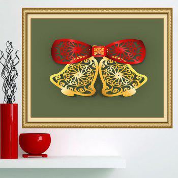 Multifunction Christmas Bells Cut Print Wall Art Painting - RED / GREEN / YELLOW RED / GREEN / YELLOW