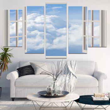 Window Cloud Print Unframed Painting - GRAY GRAY