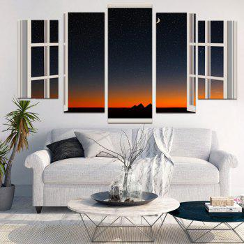 Nightsky Window Split Wall Art Paintings - COLORFUL COLORFUL