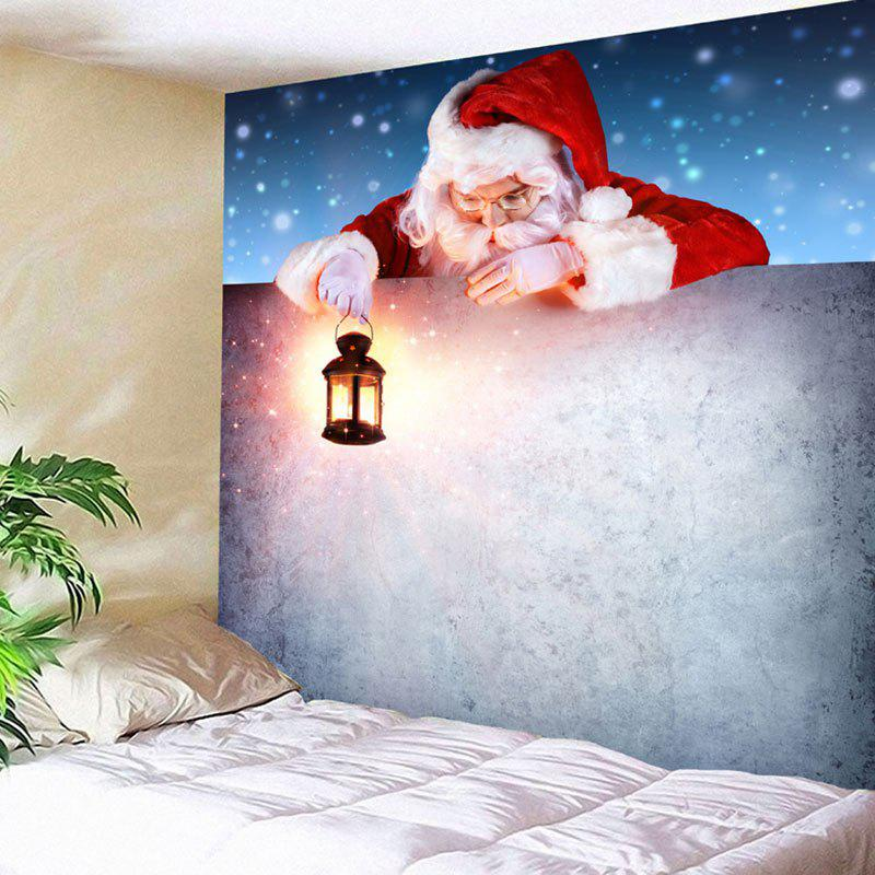 Santa Claus Printed Wall Decor Christmas Tapestry santa claus printed throw pillow case