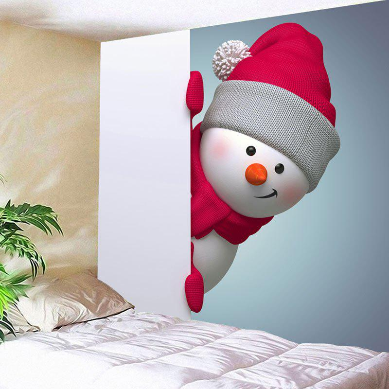 Wall Hanging Christmas Naughty Snowman Pattern Tapestry christmas tree snowman printed wall tapestry