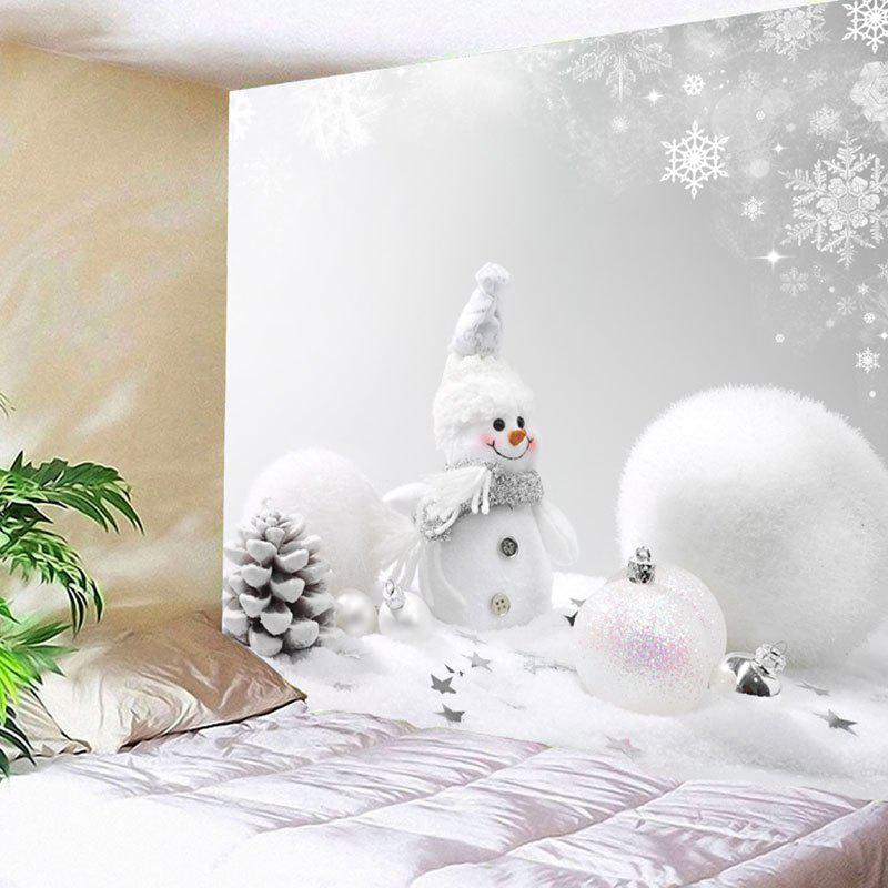 Christmas Snowman Snowball Wall Decor Tapestry