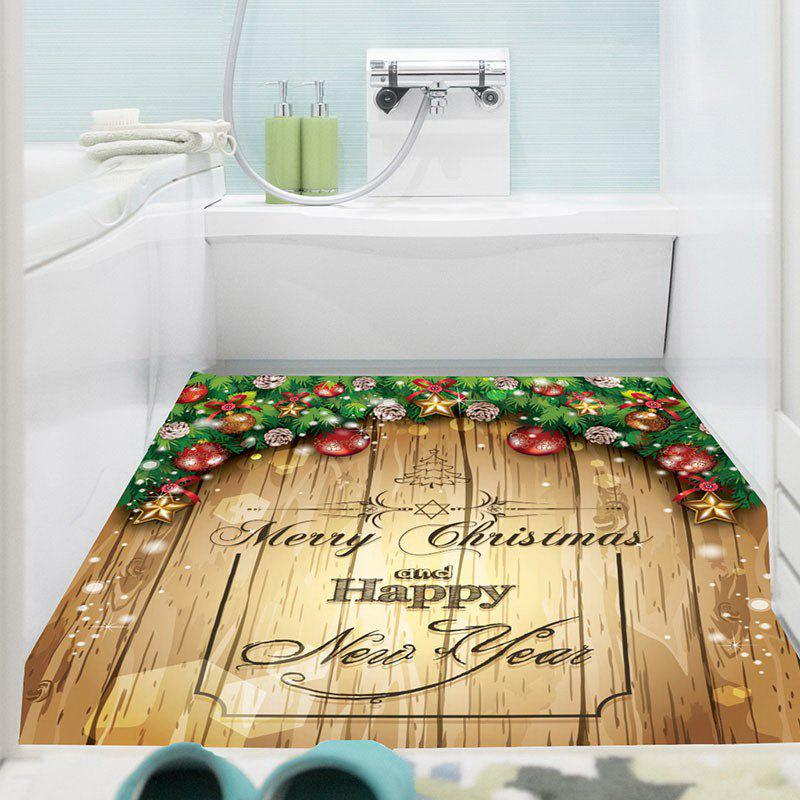 Merry Christmas Decorations Printed Multifunction Wall Art Painting - YELLOW 1PC:24*47 INCH( NO FRAME )