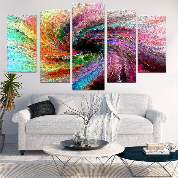 Space Colorful Wall Art Painting - COLORFUL 1PC:8*20,2PCS:8*12,2PCS:8*16 INCH( NO FRAME )