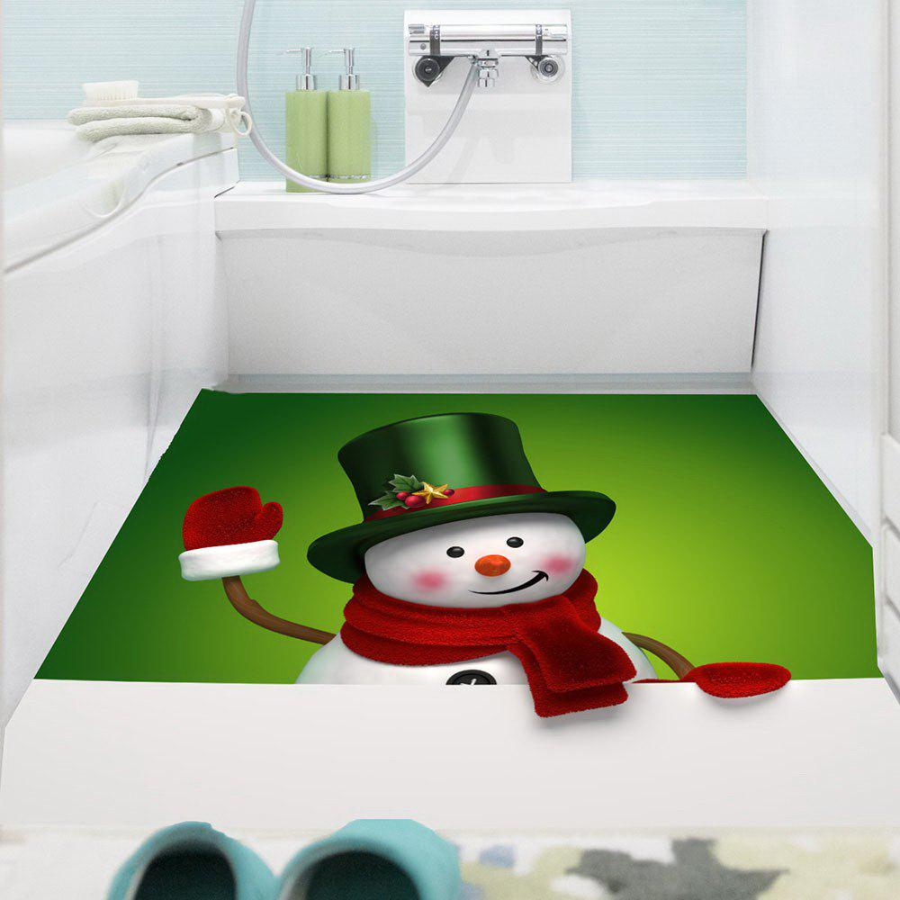 Multifunction Christmas Snowman Printed Wall Sticker - GREEN/WHITE 1PC:24*24 INCH( NO FRAME )