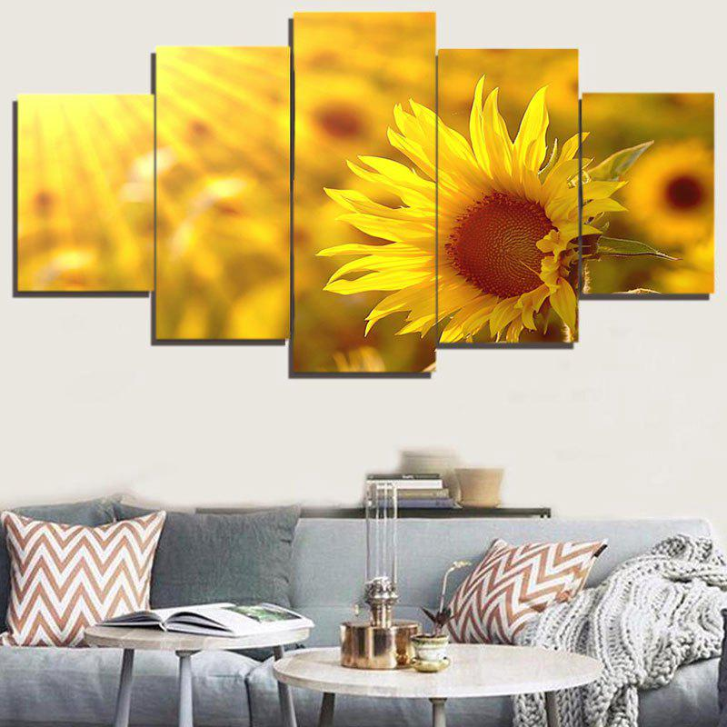 2018 Unframed Sunflower Print Canvas Painting GINGER PC: , PCS ...