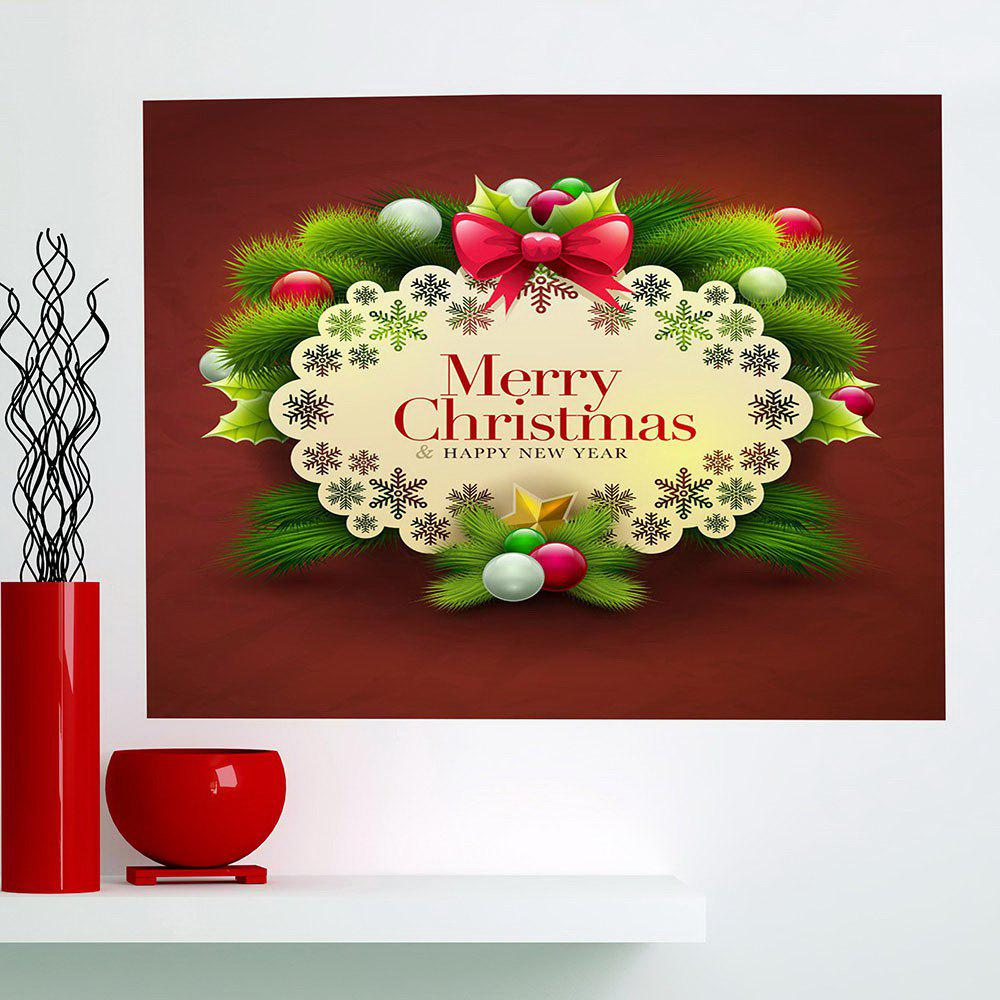 Multifunction Merry Christmas Graphic Pattern Wall Sticker - COLORFUL 1PC:24*24 INCH( NO FRAME )
