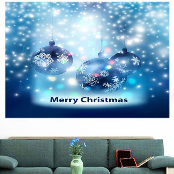 Christmas Snow Balls Pattern Multifunction Decorative Wall Sticker - BLUE 1PC:24*24 INCH( NO FRAME )