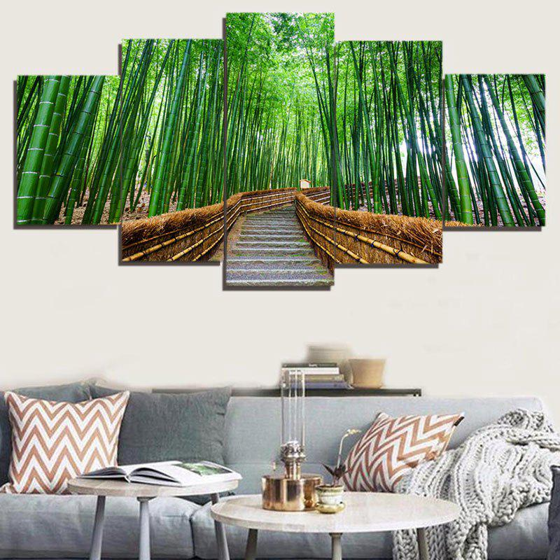 Wall Art Bamboo Forest Trail Paintings цена 2017