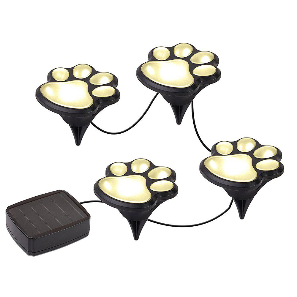 Paw Shape Solar Garden Lights Set Outdoor Landscape Lighting - WARM WHITE LIGHT