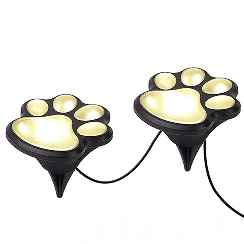 2018 Paw Shape Solar Garden Lights Set Outdoor Landscape Lighting WARM WHITE LIGHT In LED Night