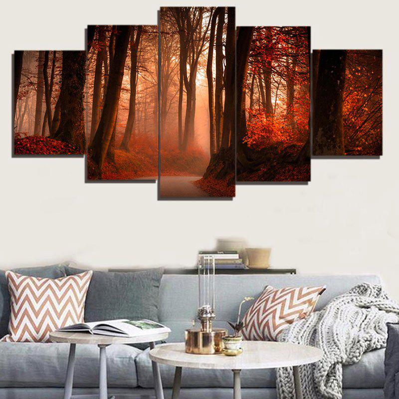 Maple Forest Pattern Unframed Decorative Canvas Paintings sunset horses pattern unframed decorative canvas paintings