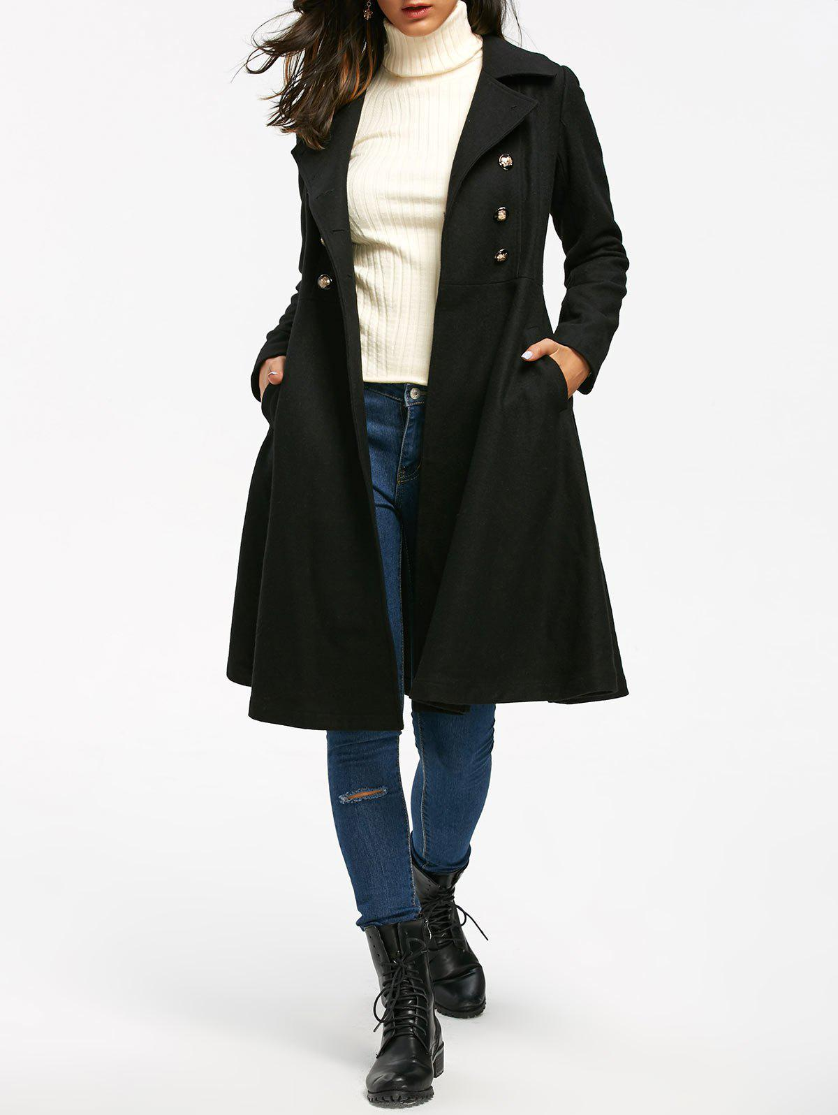 High Waisted Double Breasted Dress Coat 223094502