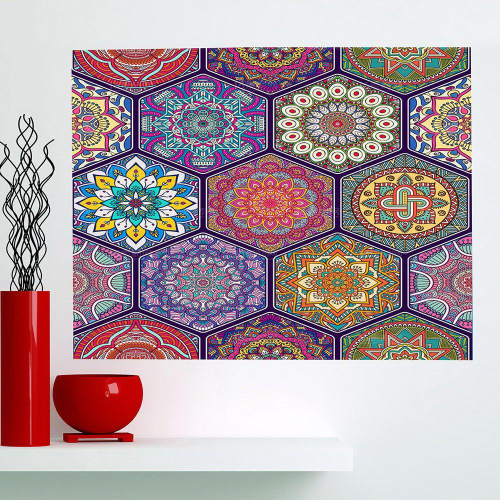 Multifunction Bohemian Graphic Pattern Wall Sticker - COLORFUL 1PC:24*35 INCH( NO FRAME )