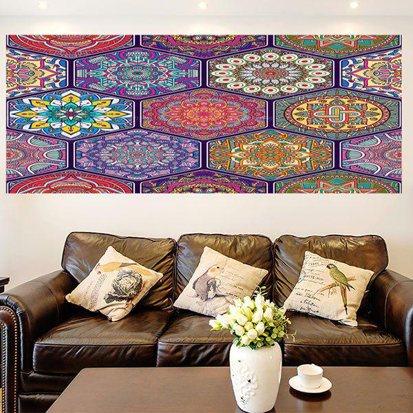 Multifunction Bohemian Graphic Pattern Wall Sticker - COLORFUL 1PC:24*47 INCH( NO FRAME )