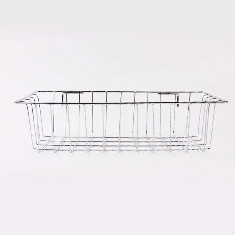 Portable Stainless Steel Wire Hanging Storage Basket - STAINLESS STEEL