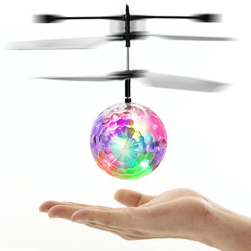Magic Colorful Flash LED Disco Ball Induction Helicopter Toy childrens play ocean ball pool toy house