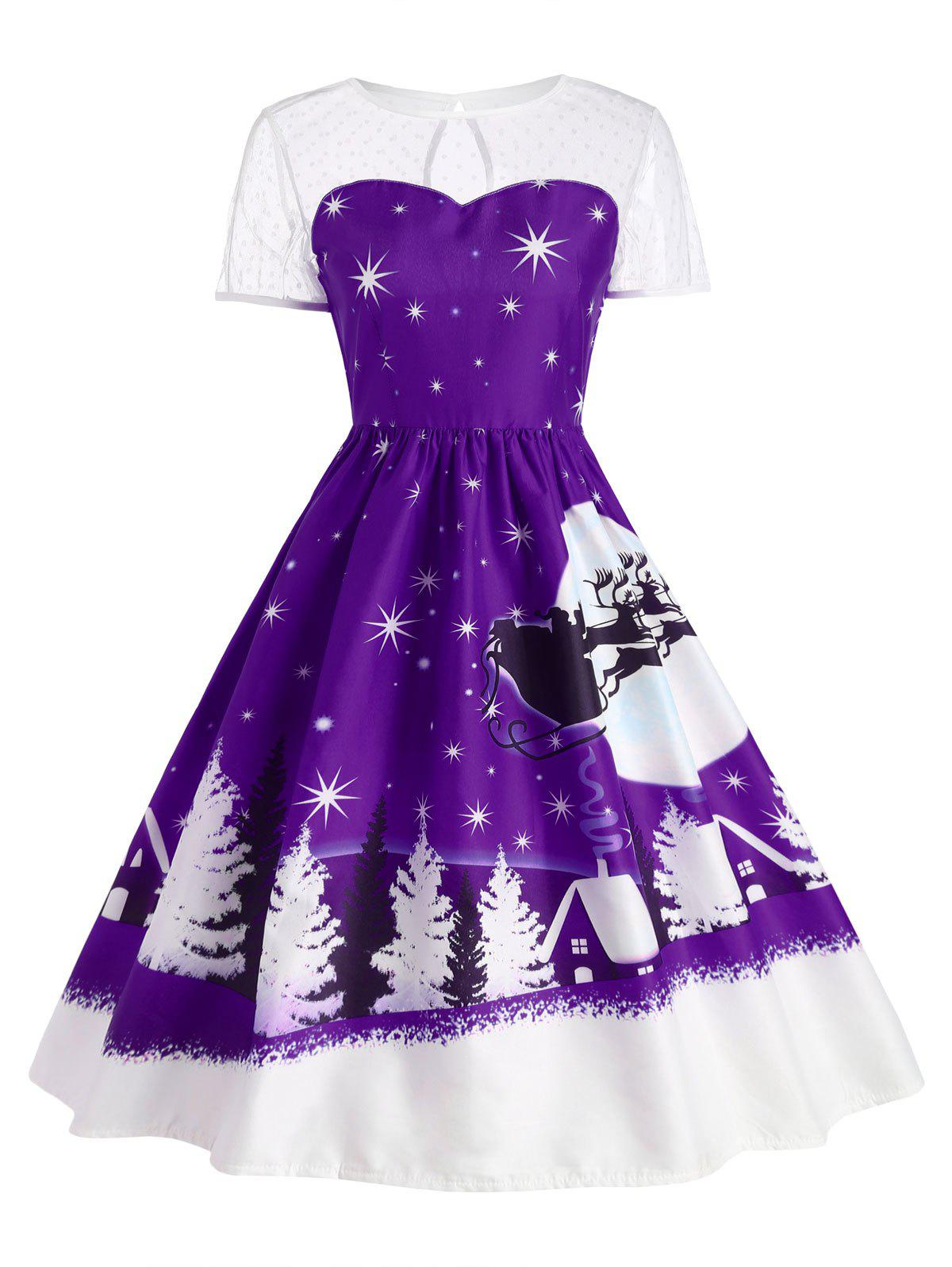 Santa Claus Deer Christmas Vintage Dress гель nivea nivea ni026lwviu43