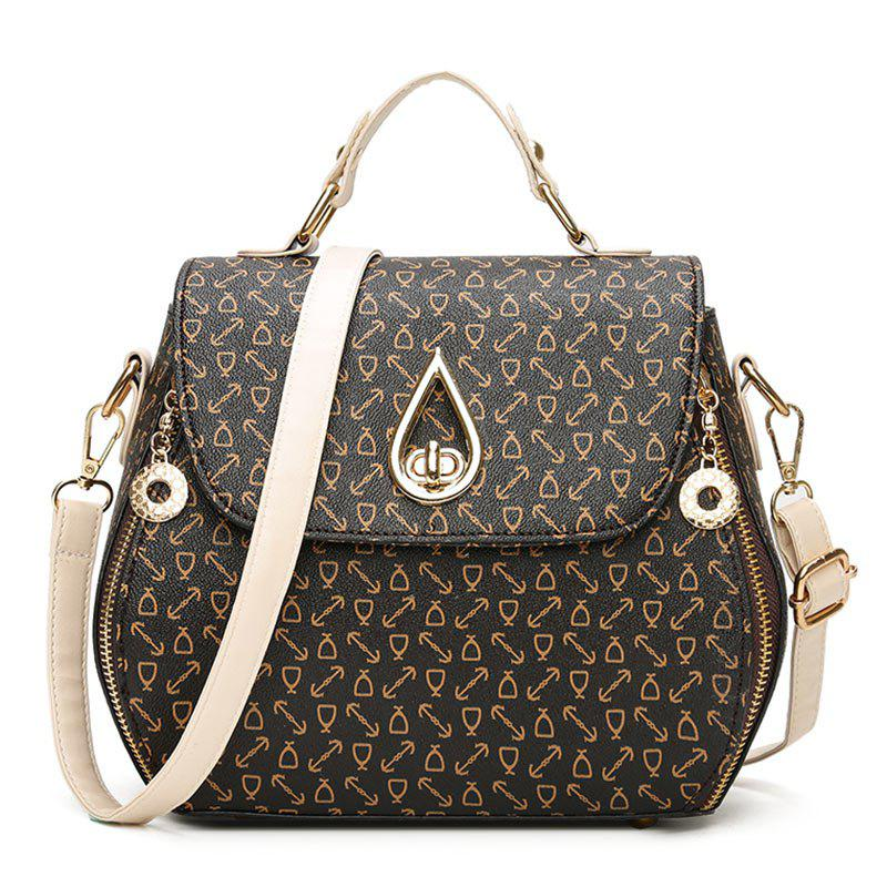 Arrow Print PU Leather Handbag