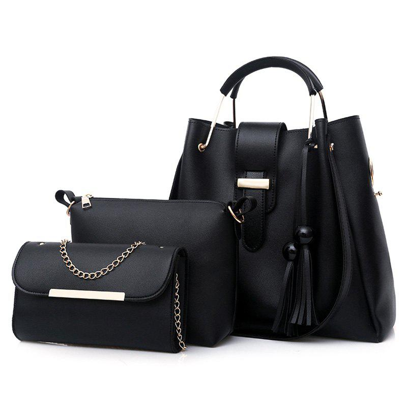 Tassel 3 Pieces Tote Bag Set
