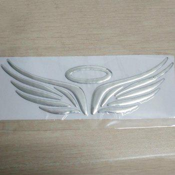 Angel Wings Pattern Autocollants voiture - SILVER