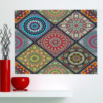 Bohemian Geometries Flowers Patterned Multifunction Wall Art Painting