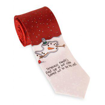 Letter Printed 8CM Width Christmas Neck Tie